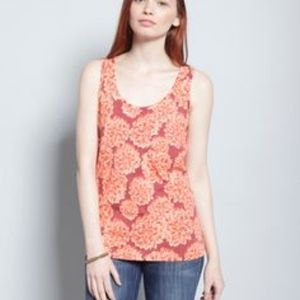 Brooklyn Industries Chrysanthemum Flower Tank XS